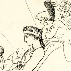 Apollo, Diana and Leto (The Eumenides. Act I. Plate 23)