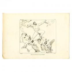 Prometheus wounded by the lightning of Jupiter (Prometheus. Act V. Plate 6)