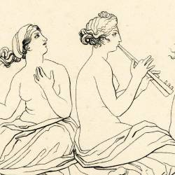 The sirens try to attract Ulysses with their songs (Book XII. Plate 19)