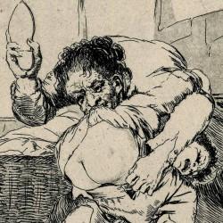 If he broke the pot (Caprichos Plate 25)