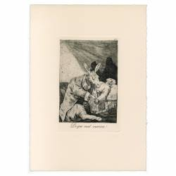 Of what ill will he die? (Caprichos Plate 40)