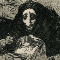 The shamefaced one (Caprichos Plate 54)