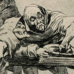 Be quick, they are waking up (Caprichos Plate 78)