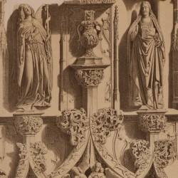 Details of the tomb of D. Fernando Diez de Fuente-Pelayo, in the Cathedral (Burgos)