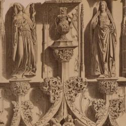 Detalles del sepulcro de D. Fernando Díez de Fuente-Pelayo, en la Catedral (Burgos)