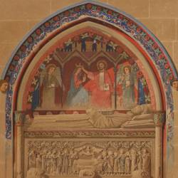 Sepulchres of the transept of the old cathedral (Salamanca)