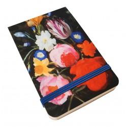 Libreta de bolsillo Guirnalda de flores con la Virgen