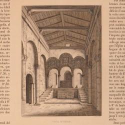 Chapel of Santa Cristina de Lena (Asturias). Interior view