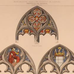 Remains of the stained glass window of San Juan de los Reyes (Toledo)