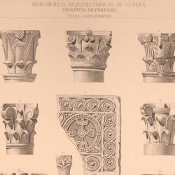 Capitals and fragments of the ornamentation, in the mosque today Cathedral of Córdoba