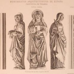 Detalles del claustro de San Juan de los Reyes (Toledo) [Estatuas decorativas de los machones]