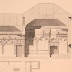 Longitudinal section of San Idelfonso Chapel at the Complutense University (Alcalá de Henares)