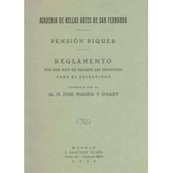 Reglamento de la Pensión Piquer