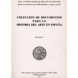 Colección de documentos para la historia del arte en España Vol I