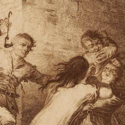 Sancho and Maritones at the inn (4th plate)