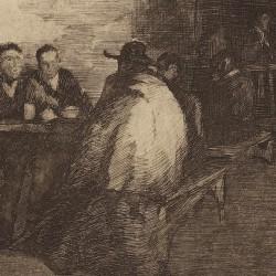 Interior de una posada o La taberna