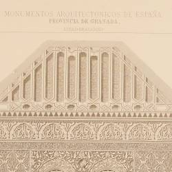 Cross section of the mosque (Granada)