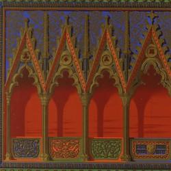 Fondo del tríptico-relicario del Monasterio de Piedra (Real Academia de la Historia)