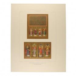 Tríptico-relicario del monasterio de piedra, Aragón. Detalles de las puertas por su haz interior (Real Academia de la Historia