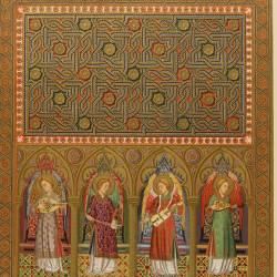 Triptych-reliquary of the Monasterio de Piedra, in Aragon. Details of the doors by their inner beam (Royal Academy of History)