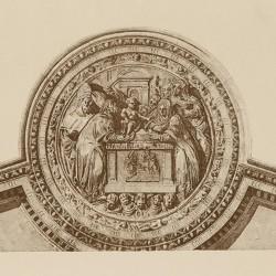 Detalles de la puerta de la presentación. En el claustro de la catedral (Toledo)