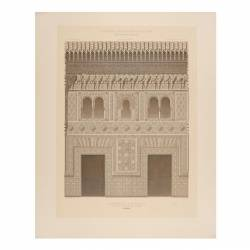 Facade of the mosque at the Alhambra (Granada)