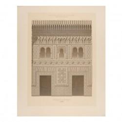 Fachada de la mezquita en los Reales Alcázares en la Alhambra (Granada)