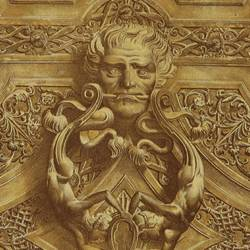 Detalles ornamentales de las puertas de la catedral (Toledo)