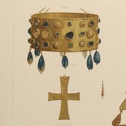 Coronas y cruces visigodas de Guarrazar (Término de Guadamur) [Corona de Recesvinto y otras]