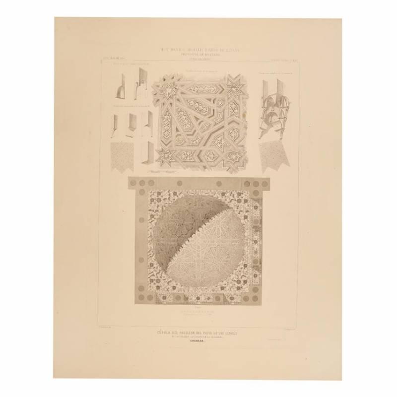 Granada Planta y ventana de la Sala de Justicia en la Alhambra