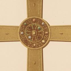 Cruz de la victoria, o de Pelayo en la cámara Santa de la Catedral (Oviedo)