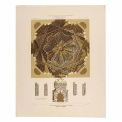 Plan of the vault and dome of the Mihrab (mosque of Cordoba)