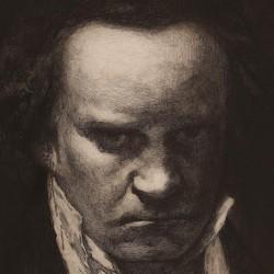 Portrait of Beethoven.