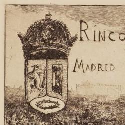 "Cover off the series ""Rincones de Madrid"""