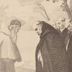 Saint Bruno in fronto of the bishop of his order. Picture No. 18