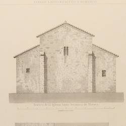 Ground plans, front, sections and details of the parish churches of Priesca and Fuentes (Villaviciosa Council)