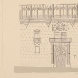 Fachada principal del palacio de los Duques del Infantado (Guadalajara)