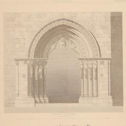 Planta, portada y detalles de la iglesia parroquial de Villaviciosa (Concejo de Villaviciosa)