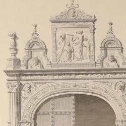 Portadas en el vestíbulo del antiguo hospital de Santa Cruz (Toledo)