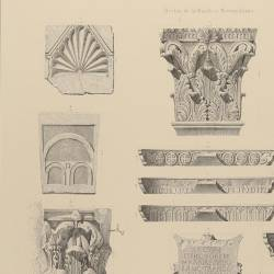 Metropolitan basilica and baptistery decorative members and fragments (Mérida)