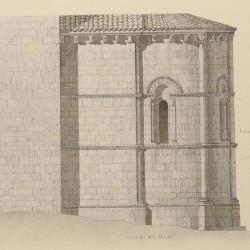 Ground plan, main façade, apse and details of the church of San Juan de Amandi (Villaviciosa Council)