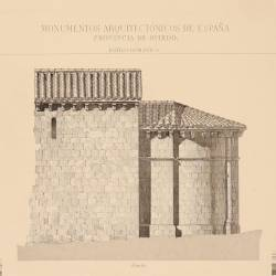 Ground plan, section and apse