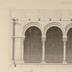 Cloisters and grave of the Abbey of Santa María la Real de Las Huelgas (Burgos)