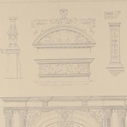 Details of the facade of the Complutense University (Alcala de Henares)