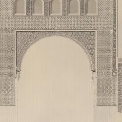 """Arco de entrada en el edificio llamado """"Taller del Moro"""" (Toledo)"""