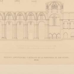 San Peter's parish longitudinal section and details (Ávila)