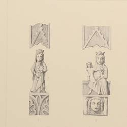 Sculptures and details of ancient churches (Sevilla)