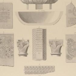 Architectural members, baptismal front and sepulchral inscriptions (Sevilla, Italica, Niebla)