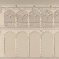 Longitudinal section of the main courtyard of San Gregorio (Valladolid)