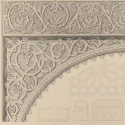 Detalles del salón de la casa llamada de Mesa (Toledo) [Planta, sección y detalles]